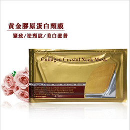 Canada Vente chaude Deep Water 100 pcs Or Collagène Cristal Cou Masque Patch Humidité Cou Masque Livraison DHL gratuite Offre