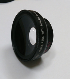 Wholesale 37mm Cap - Fisheye lens Wide 37mm 0.45x Wide Angle lens with Macro use 46mm filters + Front & Rear Cap WITH macro FOR nex 5