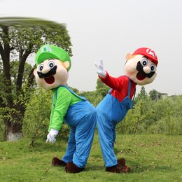 Wholesale Super Mario Characters Fancy Dress - super mario mascot costumes adult mascots cartoon character plush christmas party fancy dress free shipping