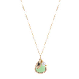 Wholesale Red Crystal Bib Necklace - 10pcs lot Wholesale Multi Layer Gold Bib Necklace Soft Mint Stone Necklace Initial-S- Pearl Crystal necklaces & pendants for women