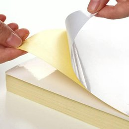Wholesale Paper Coated - A4 blank white coated glossy self-adhesive label sticker A4 label paper for laser printer