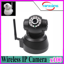 Wholesale Visions Internet - 2 Way Audio Wireless Network Internet Wifi RJ45 Night Vision IP Camera Indoor Home Surveillance CCTV dome Camer 100 pcs ZY-SX-01