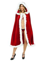Wholesale Ladies Hooded Cloaks - New Style Hooded Christmas Cloak Ladies Cape Short Length Faux Fur Competitive Price Designer Red Wedding Cape White Ivory Available