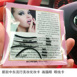 Wholesale Hot Stencil - Hot Eyeliner stencil Cat Eyeliner Models Smokey Eye Stencil Template Eyeliner Card Auxiliary Tools Eyebrows Stencils DHL free shipping