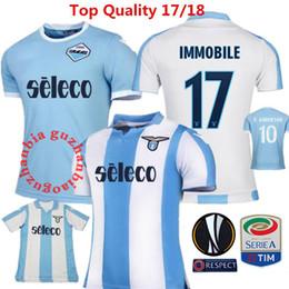 Wholesale Italy Soccer Jerseys - Immobile jerseys 17 SS Lazio Soccer Jersey Italy De Vrij F.ANDERSON 2017 2018 Balde Lulic Maglia Italia Calcio MAGLIA Lazio Football shirt