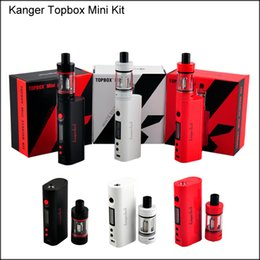 Wholesale Top Ecig Tanks - High Quality Kanger topbox Mini 75W Kit Pro Starter Kit Top Refilling Tank&75Watt TC Mod KangerTech Beginner Kit Ecig