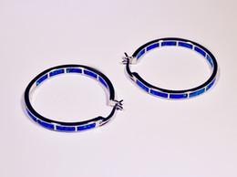 Wholesale Blue Opal Silver Earrings - Wholesale & Retail Fashion Blue &White Multicolour Fine Fire Opal Earrings 925 Silver Plated Jewelry EJL1631001