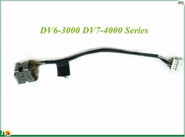Wholesale Dv7 Cable - DC Power Jack Connector Flex Cable For HP Pavilion DV6-3000 DV7-4000 Series E255394 VW-1 HAMBURG-A H-2 125C 100% Working