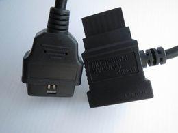 Wholesale Launch X431 Software - 100% ORIGINAL LAUNCH X431 Mitsubishi Hyundai -12+16 OBDII Cable for GX3 Connector OBDII Adaptor 12 16 OBD2 Cables OBD 2