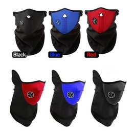 Wholesale Wholesale Bike Bicycle - Bicycle Cycling Motorcycle Half Face Mask Winter Warm Outdoor Sport Ski Mask Bike Cap CS Riding Mask