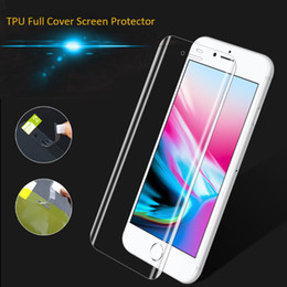 Wholesale Cover Iphone Film 3d - For Samsung S8 Note 8 S7 Edge S9 Full Coverage Clear Soft TPU Screen Protector Film Cover Curved for iPhone 7 8 Plus X With Paper Packaging