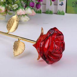 Decorazioni di fiori in vetro cristallo rose artigianali matrimonio di San Valentino favori e regali souvenir decorazione della tavola ornamenti economici da