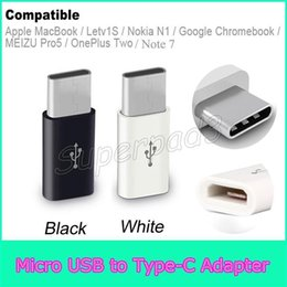 Wholesale Mini Usb Connector Female - Free Shipping USB 2.0 Type-C Male to Micro USB Female Mini Connector Adapter Type C Data Cable Adapter For Apple MacBook Note7