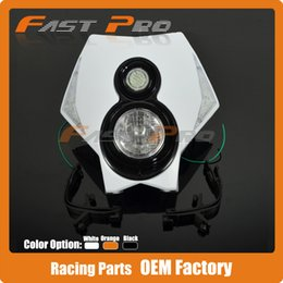 Wholesale Dirt Bike Ktm - Motorcycle Dirt Bike Supermoto Universal LED Headlights Headlamp StreetFighter For CRF YZF WRF KXF KLX RMZ RMX DRZ KTM Enduro