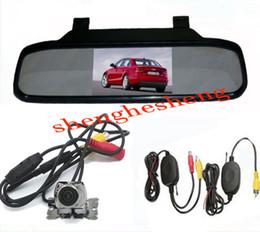 """Wholesale Wireless Rear View Camera Waterproof - 4.3"""" LCD Car Rear View Mirror Monitor + Wireless Metal Car Reverse Camera 170 Waterproof"""