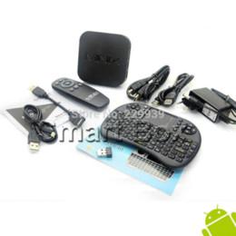 Wholesale Minix Neo Mini X7 - MINIX NEO X7 mini X7mini Quad core RK3188 2G 8G TV BOX Android 4.2.2 + BLACK English UKB-500 2.4G mini keyboard