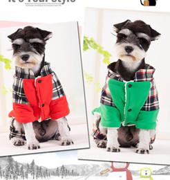 Wholesale funny santa costumes - 1017010 Creative funny Pet Dog Clothes Christmas Santa Claus reindeer Pumpkin Costumes Cute Puppy Cat Warm Winter Coat Clothing