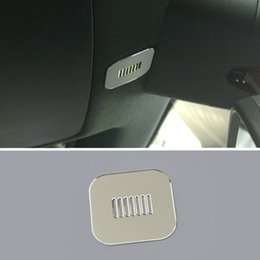 Wholesale Personalized Microphones - Interior Roof Microphone Decorative Sequins Cover Trim 2pcs For Mercedes Benz A,B class 180 200 260 2014-16