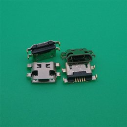 Wholesale Micro 5pin Usb Connector - 30pcs Micro 5P 5pin 5 pin USB connector for HuaWei G7 G7-TL00 for Lenovo A708t S890 Alcatel 7040N charging port