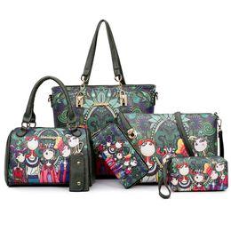 Wholesale Magic Purses - 2017 New fashion 6pcs set women designer handbags purses totes crossbody messenger bags Magic Forest style