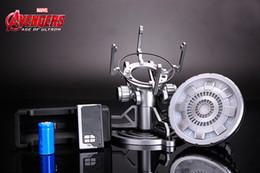 Wholesale Iron Man Core - Iron Man chest lamp core reactor heart ark reactor iron man model set decoration Marvel around