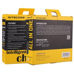 Wholesale Nitecore I4 Intellicharge - Best selling New Nitecore i4 Intellicharge Universal Battery Charger RCR123A 26650 18650 AA AAA WIth Retail Package