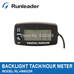 Wholesale Outboard Motors Free Shipping - Free shipping Large LCD backlight Digital inductive Tachometer Hour Meter for outboard motor motocross marine motorcycle ATV