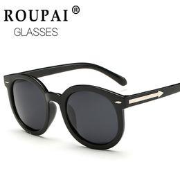 Wholesale Vintage Glass Frog - Wholesale-Vintage Oversize Round Sunglasses Men Alloy Around Hollow Frame Brand Designer Fashion Circling Frog Sun Glasses UV400