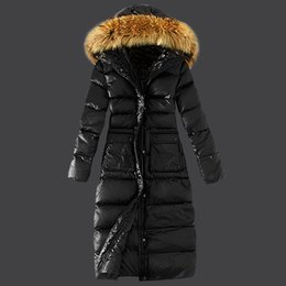 Wholesale Genuine Leather Parka - 2016 Winter Style Best Choice Down Coats Femme Winter Coats Hooded Coats Fashion Outdoor Womens AR Parkas Coats Hot Sale free shipping