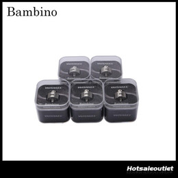 Wholesale Heated Suit - Authentic Wismec Bambino Top Cap rebuildable dripping atomizer( RDA ) suit for Rebuildable Heating Coil with Unique Vortex Flow Design