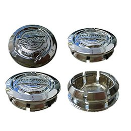 Wholesale Center Hub Cap Cover - 4 X 54mm Car Styling Wheel Accessories Alloy Wheel Center Hub Cap cover Badge Emblem Center Caps for Chrysler 300C Free Shipping