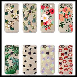 Wholesale Banana Phone Iphone Case - Flower Banana Leaf Cactus Design Floral Print Ultra Thin Hybrid TPU Cover For iPhone 5 5s 6 6plus Fashion Girl Phone Cases