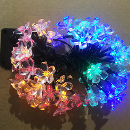 Wholesale Led Holiday Flower Lights Outdoor - LED flower shell fairy string LED strip christmas light holiday decoration LED fairy garden lights Ip65 outdoor using