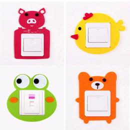 Wholesale Cute Light Switch Stickers - 500pcs DIY Funny Cute Animal Pattern High Quality Switch Sticker Home Wall Window Decor Wholesale ZA0639
