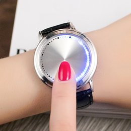 Wholesale Pair Belt Buckles - Fashion concept of creative personality intelligence really belt contracted a pair of lovers watch waterproof LED Ms. Male students