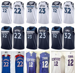 Wholesale Brand New Men S - 2017 2018 New Brand Minnesota 23 Jimmy Butler Jersey Home Road Mens 22 Andrew Wiggins 32 Karl Anthony Karl-Anthony Towns Basketball Jerseys