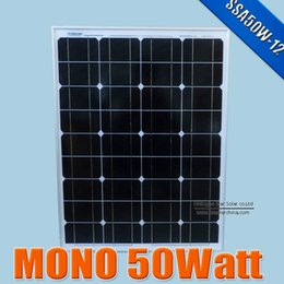 Wholesale Solar Systems For Homes - 50W 18V monocrystalline silicon Solar Panel used for 12V photovoltaic power home system, 50Watt 50WP 12VDC PV mono solar Module