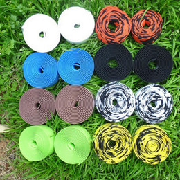 Wholesale Bike Bar Tapes - Wholesale High Quality Colorful Cycling Handle Belt Bike Bicycle Cork Handlebar Tape Wrap +2 Bar Free