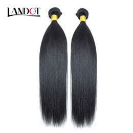 Wholesale Cheap 18 Human Hair Extensions - 2 Bundles Peruvian Malaysian Indian Brazilian Virgin Human Hair Weave Silky Straight Cheap Unprocessed 8A Remy Hair Extensions Natural Black