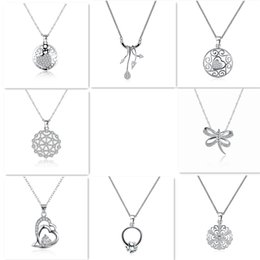 Wholesale Crystal Dragonfly Necklace - Sterling Silver Jewelry High Quality Pendant Necklace Bride Luxury Pretty Crystal Rhinestone Pearl Snowflake Flower Heart Dragonfly Wholesal