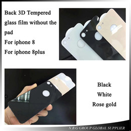 Wholesale Rear Protection - 3D Back Glass Film For iphone 8 8Plus Tempered Glass for iPhone 8 Rear protection film Full coverage Back film
