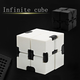 Controlador de cubo online-Fidget Novedad Magic Cube Infinity Toys Anti Stress Anxiety Juguete para Office Car Focus Controller Finger Cube Spinner Spiner para adultos