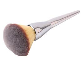 Wholesale Wholesale Makeup Brush Tops - TOP Quality New Ulta Silver Metal Handle Synthetic Hair It NO. 211 Loose Powder Makeup Brushes 30PCS LOT DHL