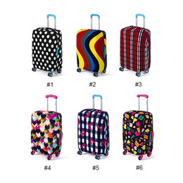 Wholesale Cover Luggage - Elastic Printing Luggage Protective Cover Trolley Suitcase Dust Bags Case Fashion Travel Accessories Product Supplies 0703171