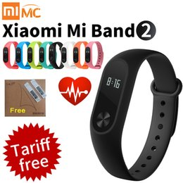 Wholesale Heart Rate Monitor For Android - Original Xiaomi Mi Band 2 Smart Fitness Bracelet watch Wristband Miband OLED Touchpad Sleep Monitor Heart Rate Mi Band2 Freeship