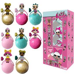 Wholesale Novelty Xmas - 8pcs L .O .L . Lol Lil Sisters Surprise Ball Series Dolls Kid Toy Xmas Gift