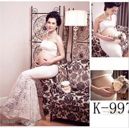 Vente chaude Blanc Maternité Photographie Accessoires Vêtements Robe Ensemble Fishtail Robe Femmes Vêtements Robes Enceintes Pour Grossesse Soirée ? partir de fabricateur