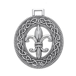 Wholesale Fleur Lis Silver Pendant - Tibetan Silver Pendants Fleur De Lis Charms for Neckalce DIY Jewelry Wholesale 5pcs lot