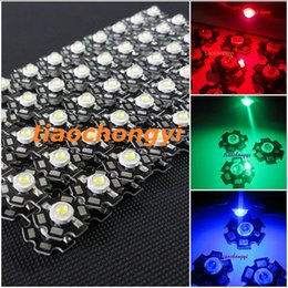 Wholesale 3w High Power Led Red - Hot 100 pcs 3W High Power red,green,Blue,Royal blue LED with 20mm star PCB