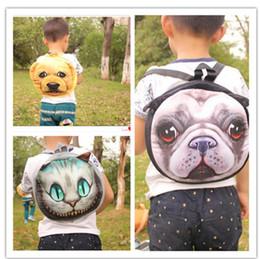 Sacs à dos mignons pour enfants en Ligne-3D Mignon Chat Chien Visage Sacs À Dos Chat Chien Animal Motif Enfants Sacs Porte-Monnaie 10 Styles LJJO3325